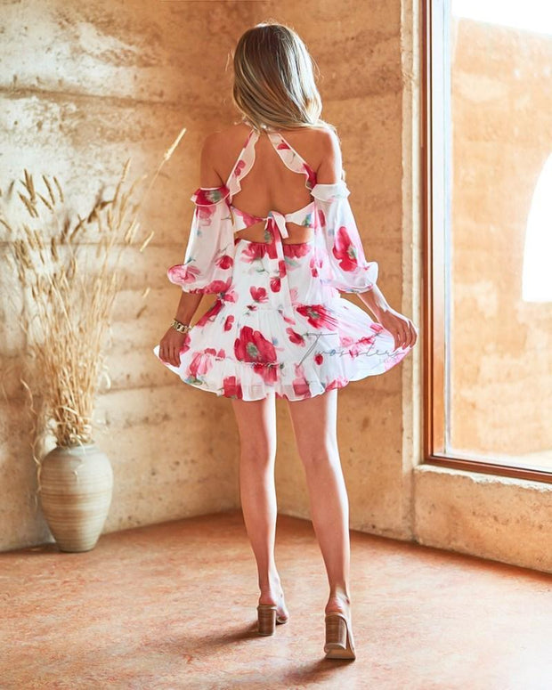 Emmaline Dress - Floral - SHOPJAUS - JAUS