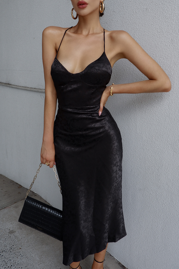 Nadia Slip Dress - Black