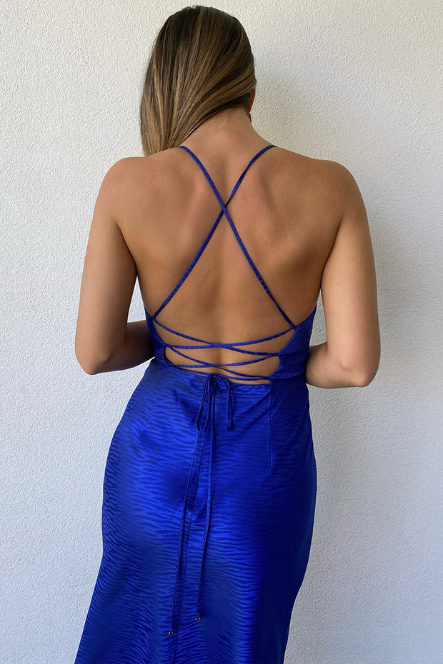 Nadia Slip Dress - Blue