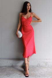 Nadia Slip Dress - Red