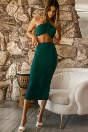 Desire Skirt - Emerald Green