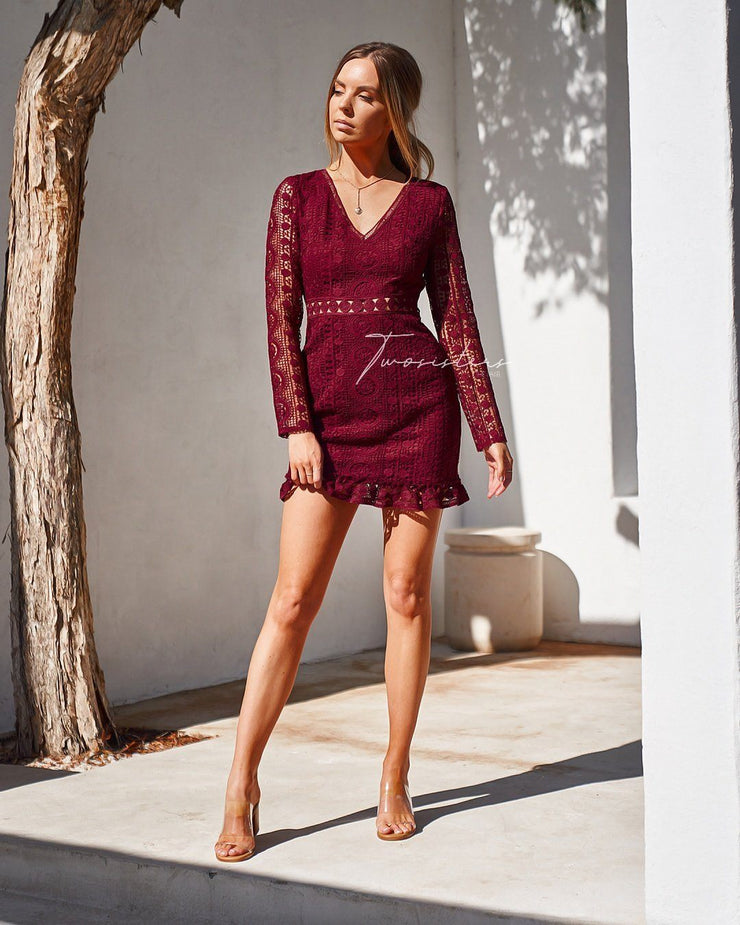Emery Dress - Red - SHOPJAUS - JAUS