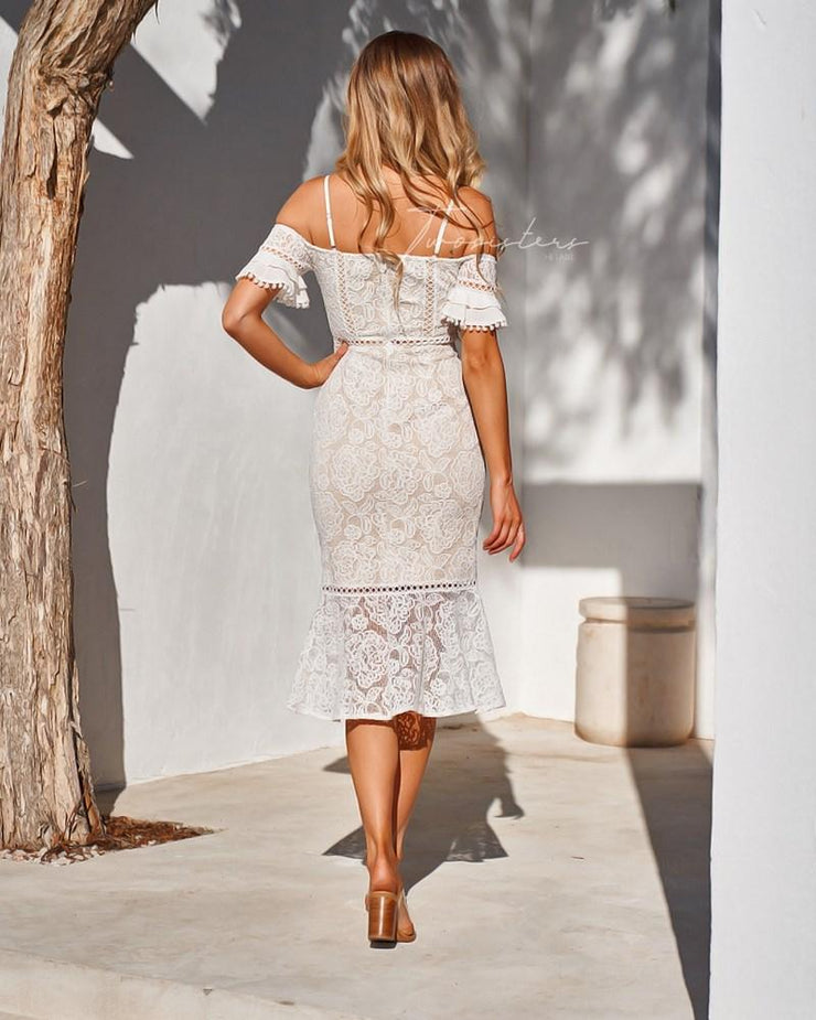 Erica Dress - White - SHOPJAUS - JAUS