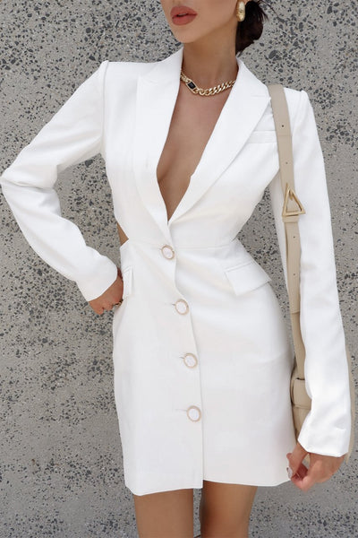 Missha Blazer Dress - White