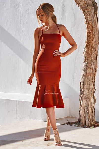 Eveleen Dress - Burnt Orange - SHOPJAUS - JAUS