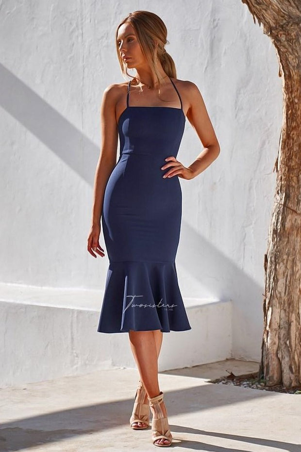 Eveleen Dress - Navy - SHOPJAUS - JAUS