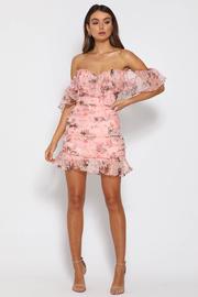 Oriana Dress - Pink Floral - SHOPJAUS - JAUS