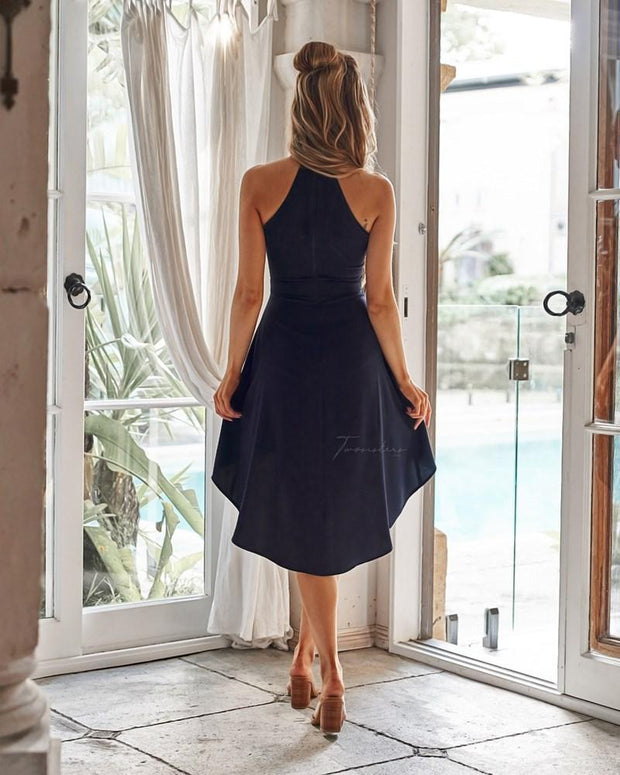 Faye Dress - Navy - SHOPJAUS - JAUS
