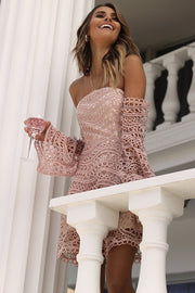 Flutter Mini Dress - Baby Pink - SHOPJAUS - JAUS
