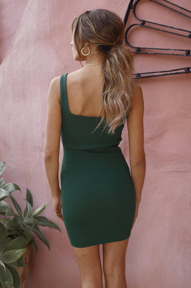 Wonder Mini Dress - Forest Green