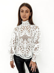 Elizabeth Lace Blouse - White