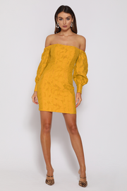 Matilda Mini Dress - Marigold - SHOPJAUS - JAUS