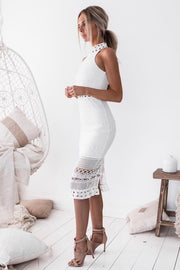 Rivers Midi Dress - White - SHOPJAUS - JAUS
