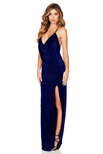 Nookie Dreamlover Gown - Navy - SHOPJAUS - JAUS