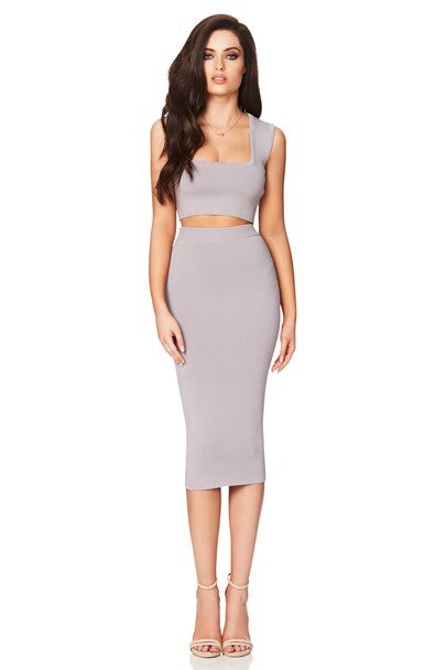 Nookie Maya Crop Top - Grey - SHOPJAUS - JAUS