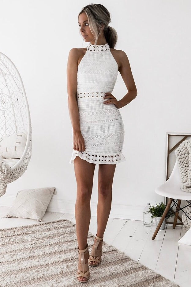 Rivers Dress - White - SHOPJAUS - JAUS