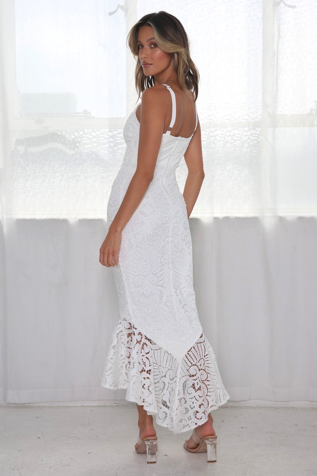Liana Midi Dress - White