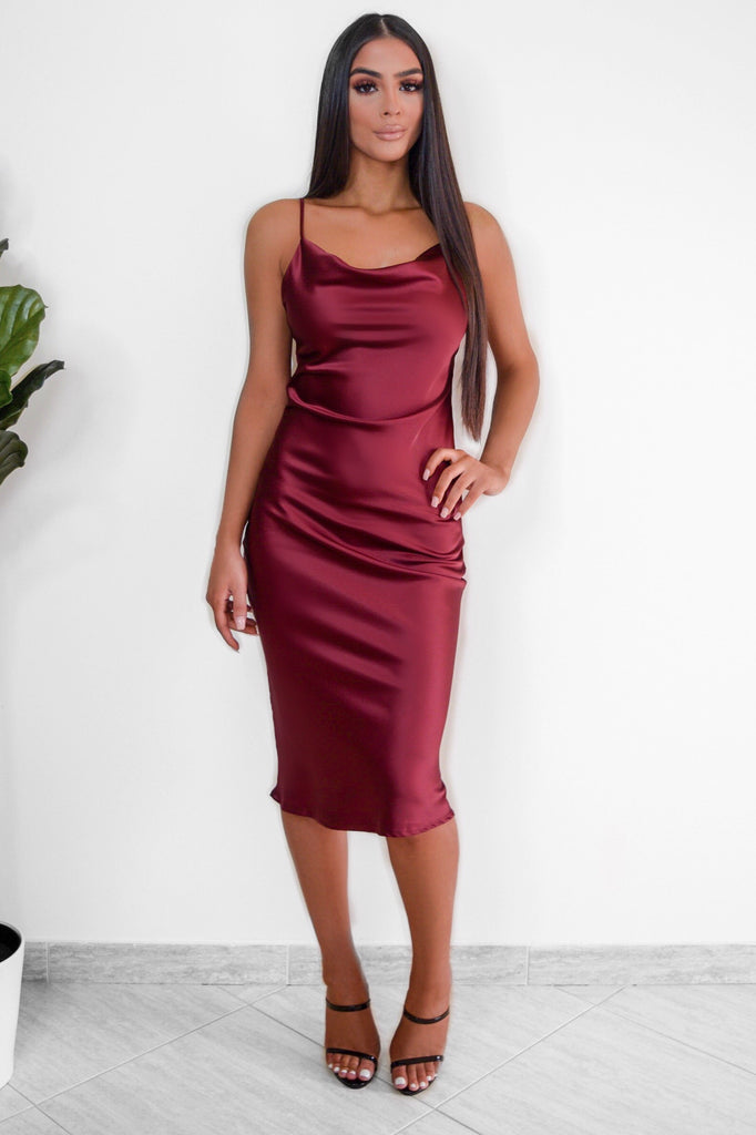 Tiffany Slip Dress - Burgundy