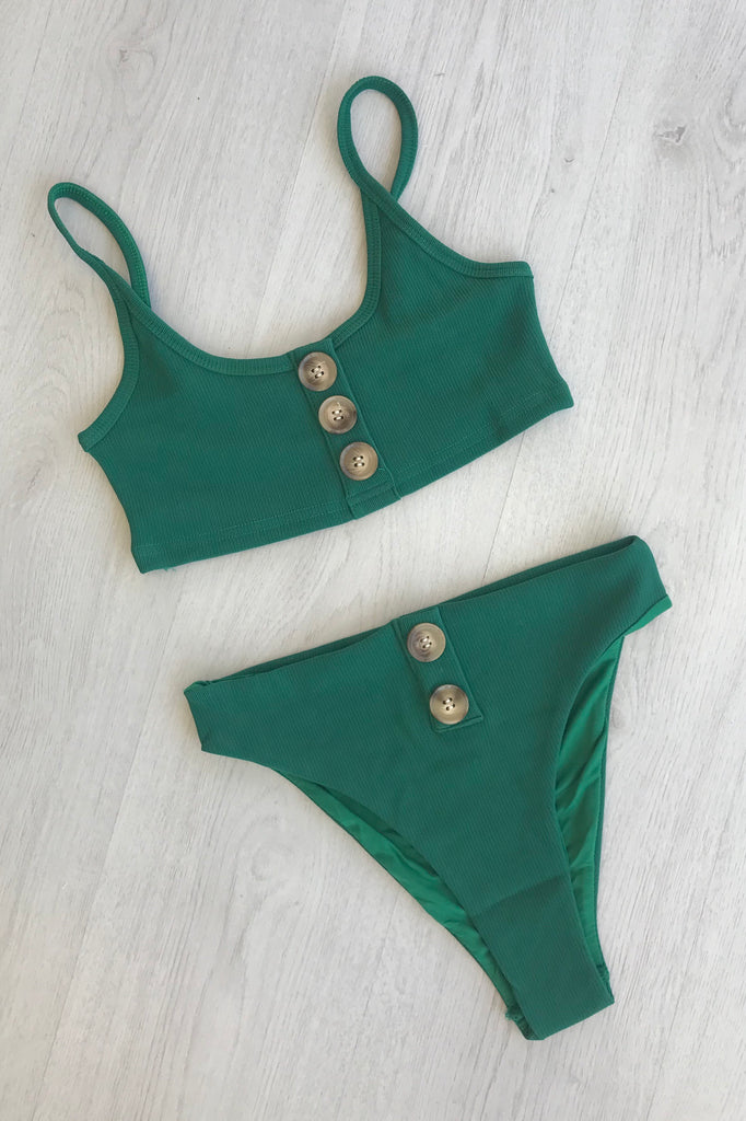 Bonita Two Piece Bikini - Forest Green - SHOPJAUS - JAUS