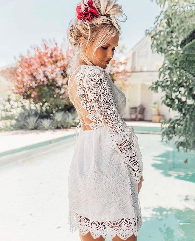 Romania Dress - White