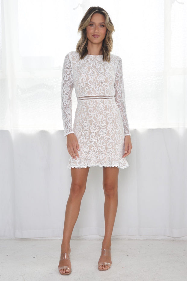 Bentleigh Dress - White/Nude
