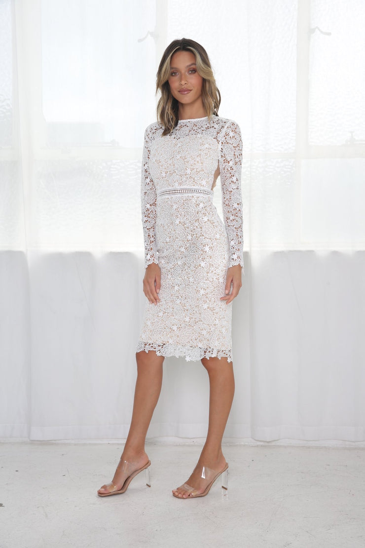 Tiffany Lace Dress - White