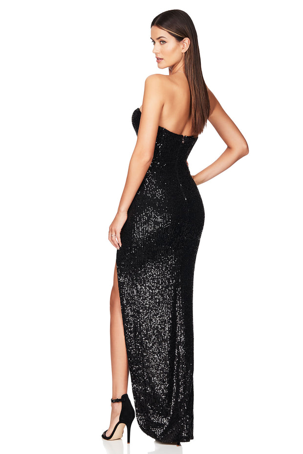 Nookie Galaxy Gown - Black - SHOPJAUS - JAUS