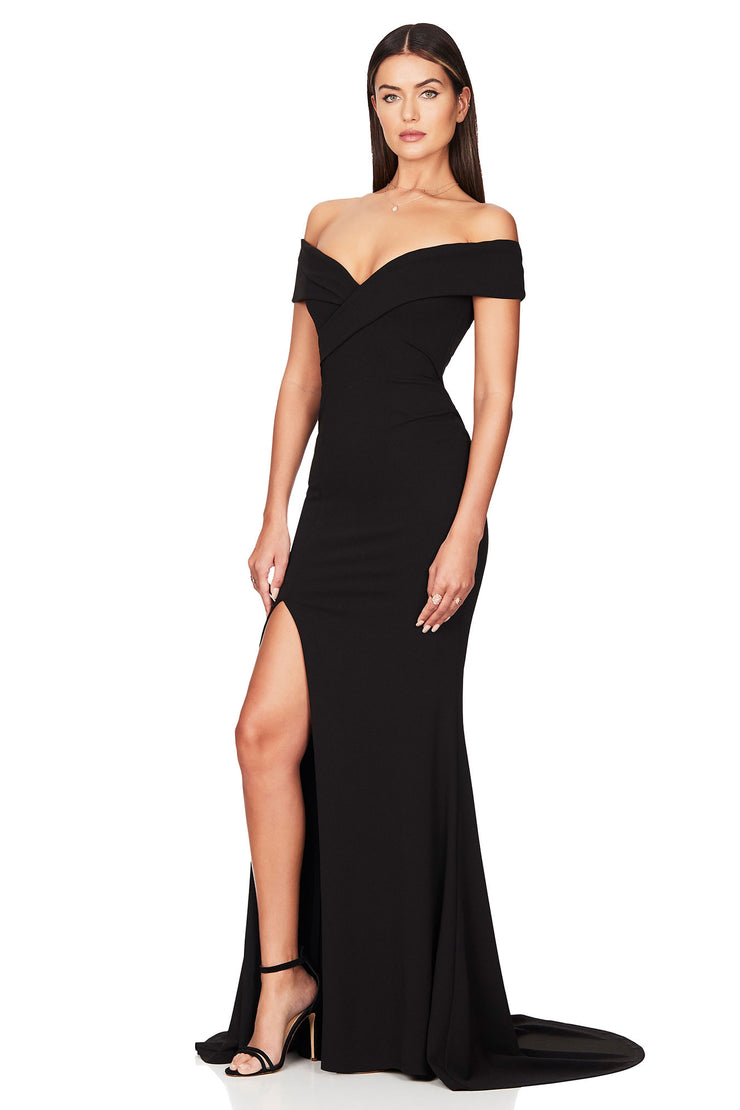 Nookie Neptune Gown - Black - SHOPJAUS - JAUS