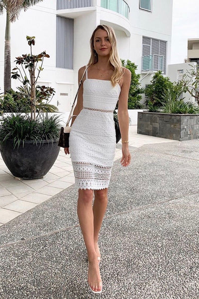 Erin Dress - White - SHOPJAUS - JAUS
