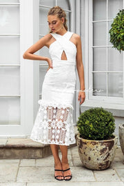 Isabella Dress - White - SHOPJAUS - JAUS