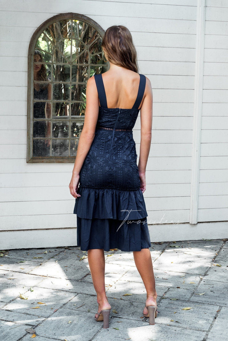 Izzy Dress - Navy - SHOPJAUS - JAUS