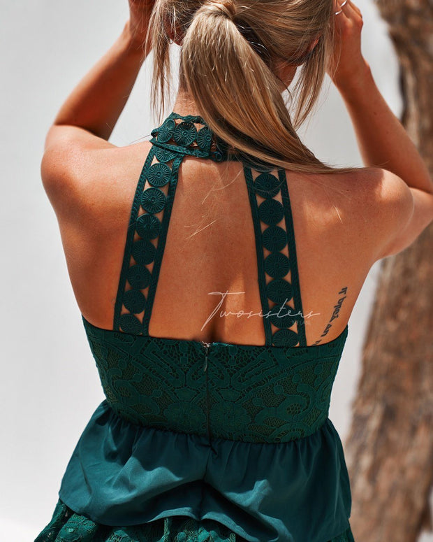 Jackie Dress - Green - SHOPJAUS - JAUS