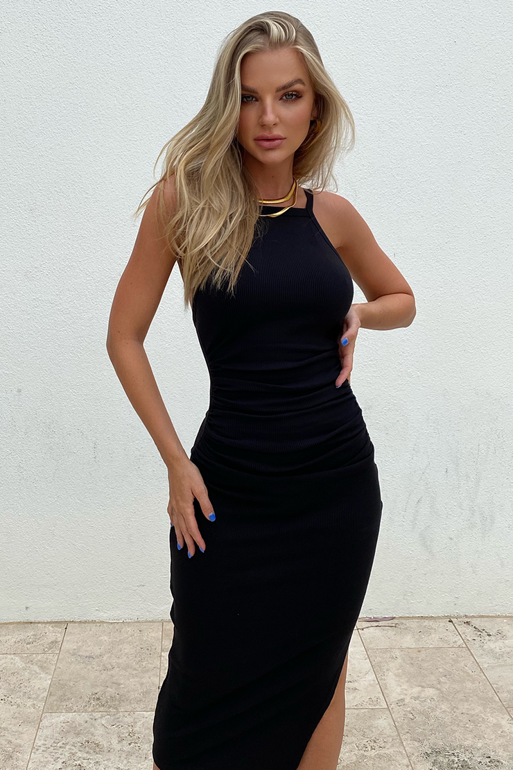 Jay Midi Dress - Black