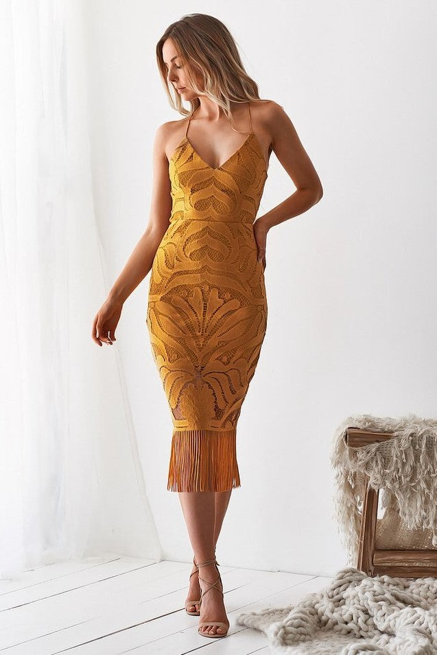 Khaleesi Dress - Mustard (PREORDER) - SHOPJAUS - JAUS