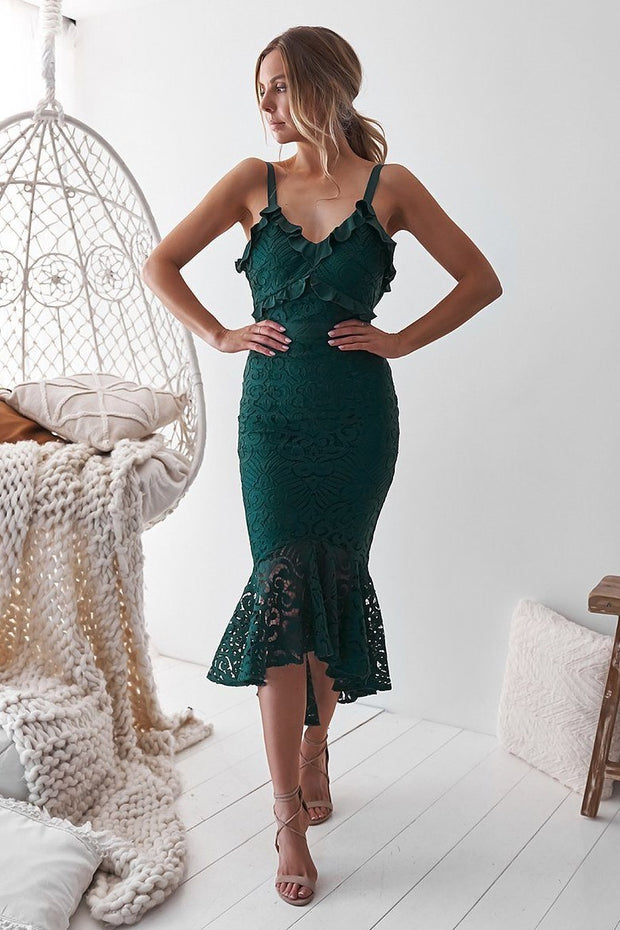 Leanne Dress - Emerald Green - SHOPJAUS - JAUS