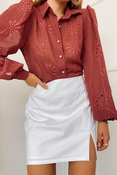 Mila Blouse - Rust