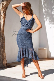 Leanne Dress - Steel Blue (PREORDER) - SHOPJAUS - JAUS