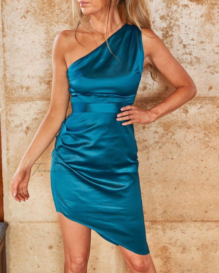 Lindsey Dress - Teal - SHOPJAUS - JAUS