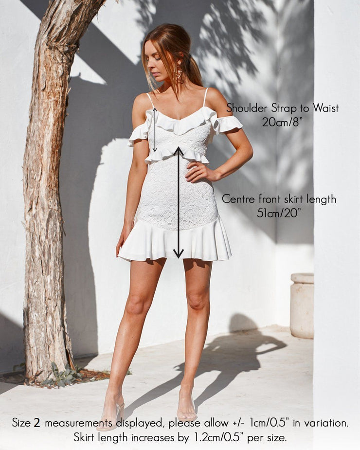 Lizzie Dress - White - SHOPJAUS - JAUS