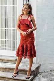 Mallory Dress - Burnt Orange