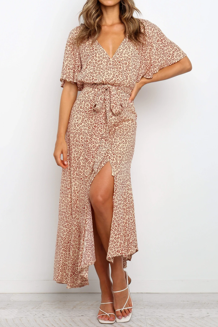 Tinsley Maxi Dress - Beige - SHOPJAUS - JAUS