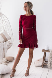 Medindie Dress - Red - SHOPJAUS - JAUS