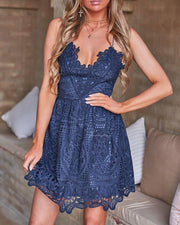 Mendoza Dress - Steel Blue - SHOPJAUS - JAUS
