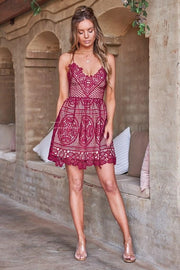 Mendoza Dress - Red - SHOPJAUS - JAUS