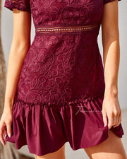 Missha Dress - Burgundy - SHOPJAUS - JAUS