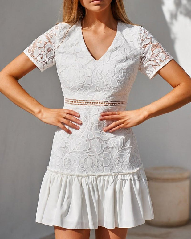 Missha Dress - White - SHOPJAUS - JAUS