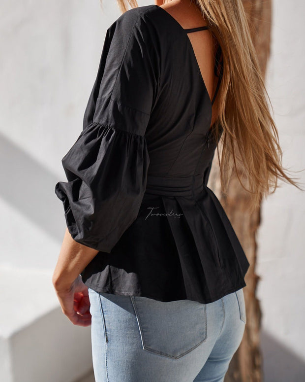 Nara Top - Black - SHOPJAUS - JAUS