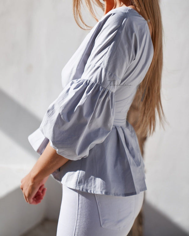 Nara Top - Grey - SHOPJAUS - JAUS