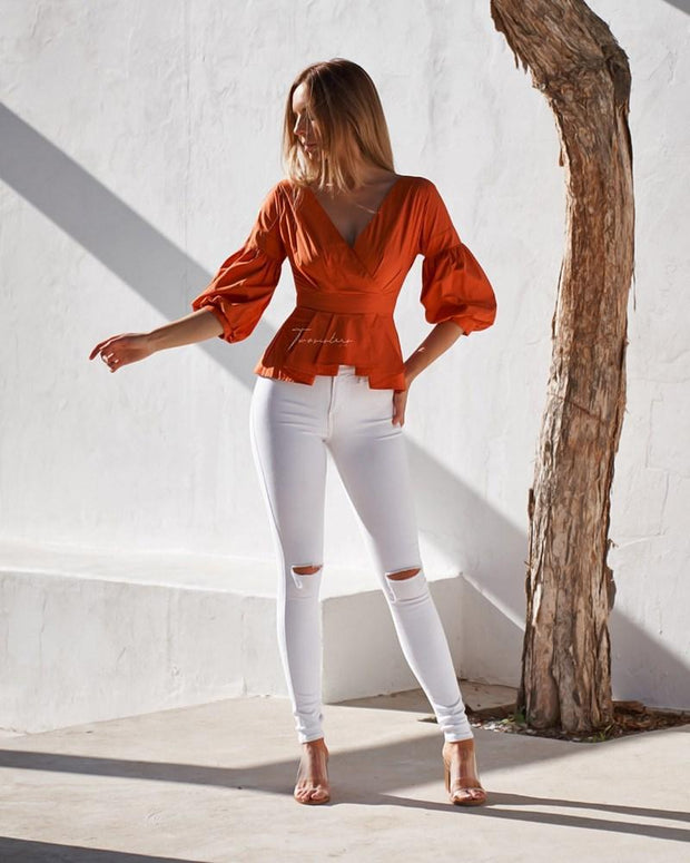 Nara Top - Orange - SHOPJAUS - JAUS