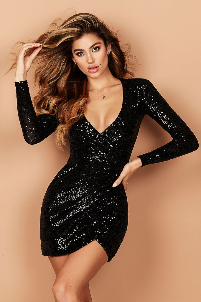 Nookie Fantasy Long Sleeve Mini Dress - Black
